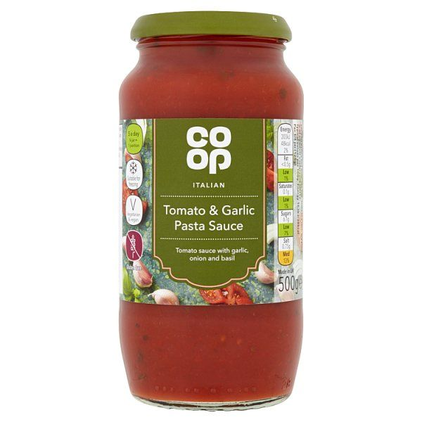 Co-op Italian Tomato and Garlic Pasta Sauce 500g