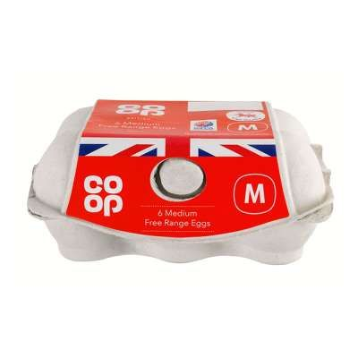 Co-op Medium Free Range Eggs 6