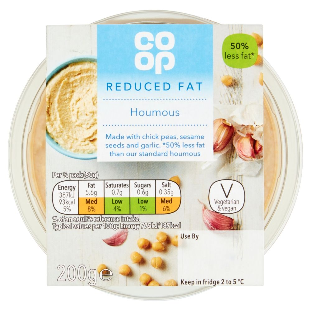 Co-op Reduced Fat Houmous 200g
