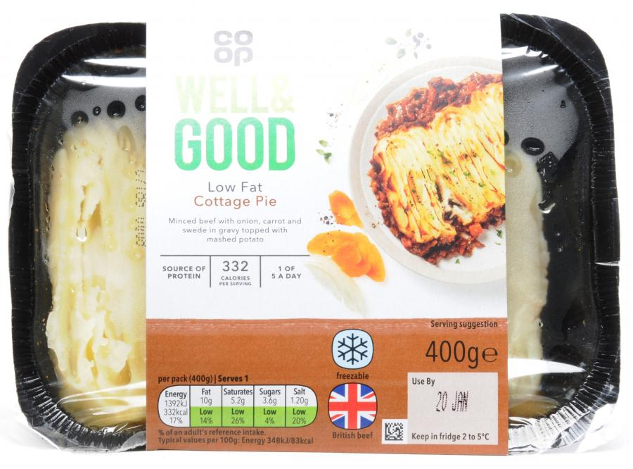 Co Op Well and Good Low Fat Cottage Pie 400gm