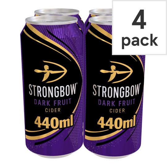 Strongbow Dark Fruit Cider 4X440ml Can