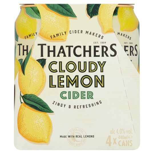 Thatchers Cloudy Lemon Cider 4 X 440Ml