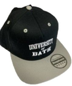 University of Bath Snapback Black & White