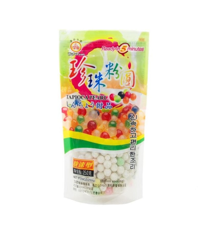 Wufuyuan Coloured Tapioca Pearls 250g